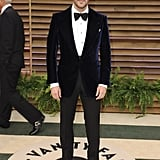Tom Ford wore one of his own velvet suit jackets to the Vanity Fair party.