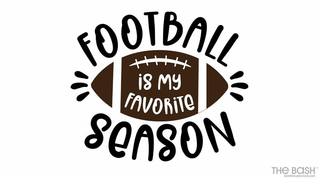 Football Is My Favorite Season Zoom Background