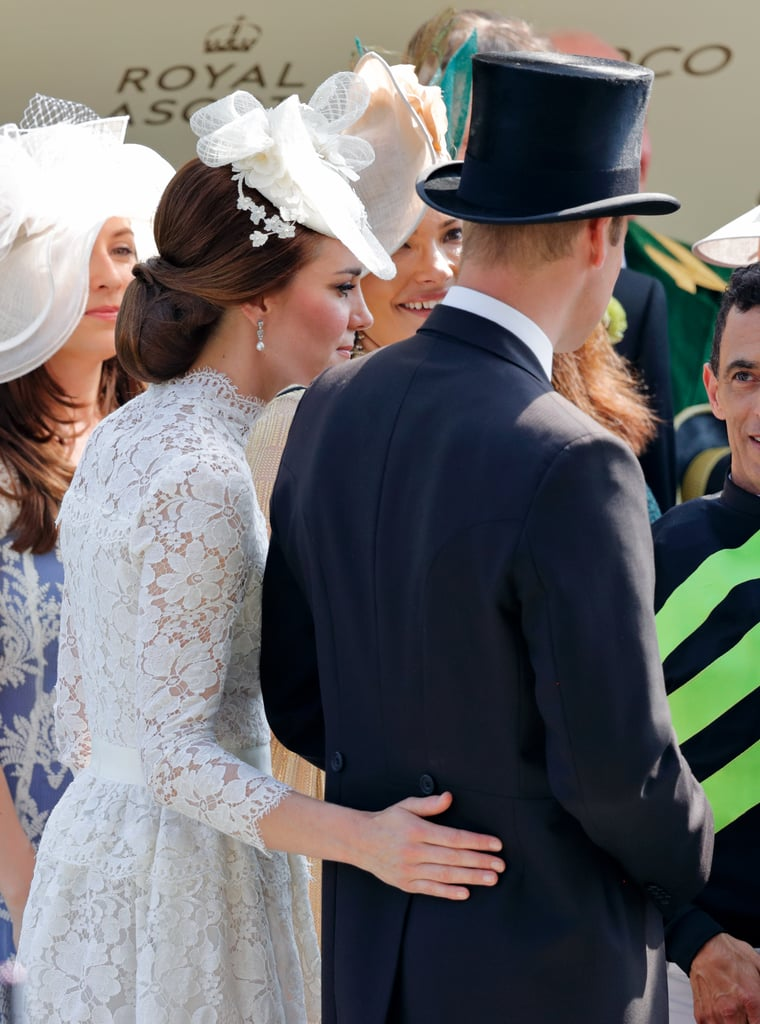Kate Sweetly Touched William's Back at the Royal Ascot