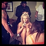 Ke$ha had a full team of stylists at her side prior to the show. Source: Instagram user iiswhoiis