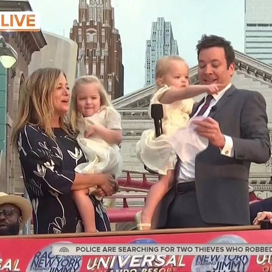 Jimmy Fallon's Daughters at Universal Studios Ride Opening