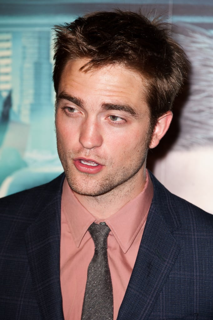 Robert Pattinson looked handsome in a tie at the Cosmopolis premiere.