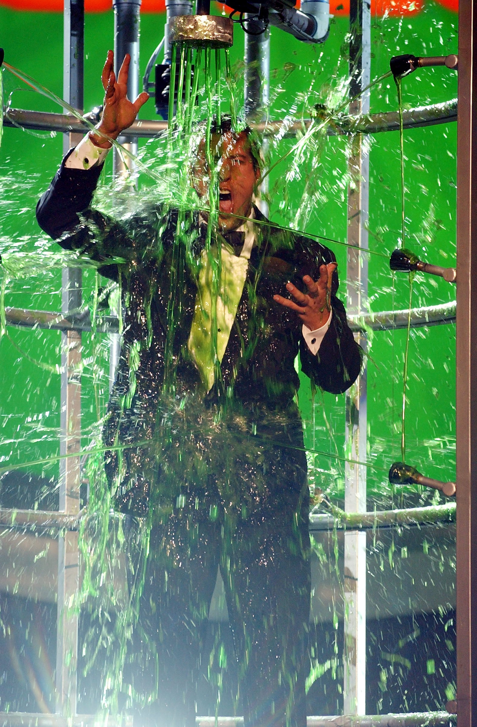 Adam Sandler had slime coming at him from every direction in 2002.