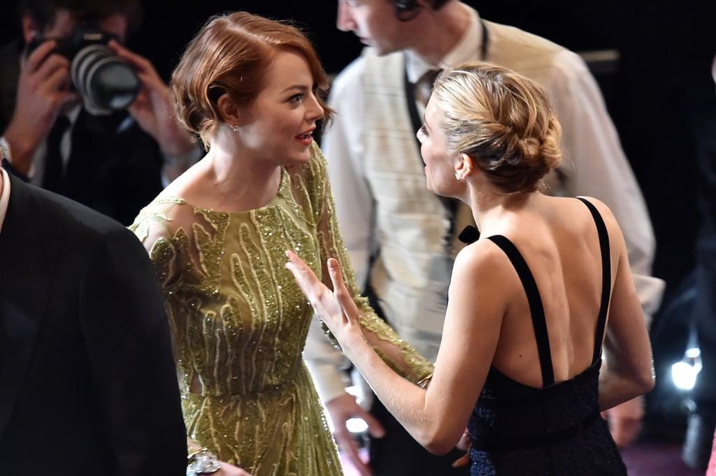 Emma Stone Met Up With Sienna Miller