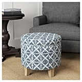 Cole Classics Round Storage Ottoman Flared Wood Leg