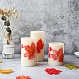 Maple Leaf Flameless Candles