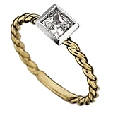 Phyllis Bergman Bezel-Set Princess-Cut Textured Shank Engagement Ring ($1,530)
