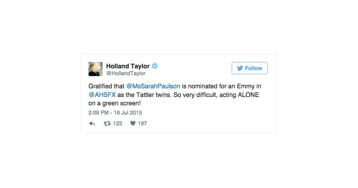 holland bragged about sarahs career accomplishments holland taylor and sarah paulsons twitter exchanges popsugar celebrity photo 5