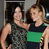 Poppy Delevingne and Daisy Lowe linked up at Stella McCartney's VIP event on Sunday.
