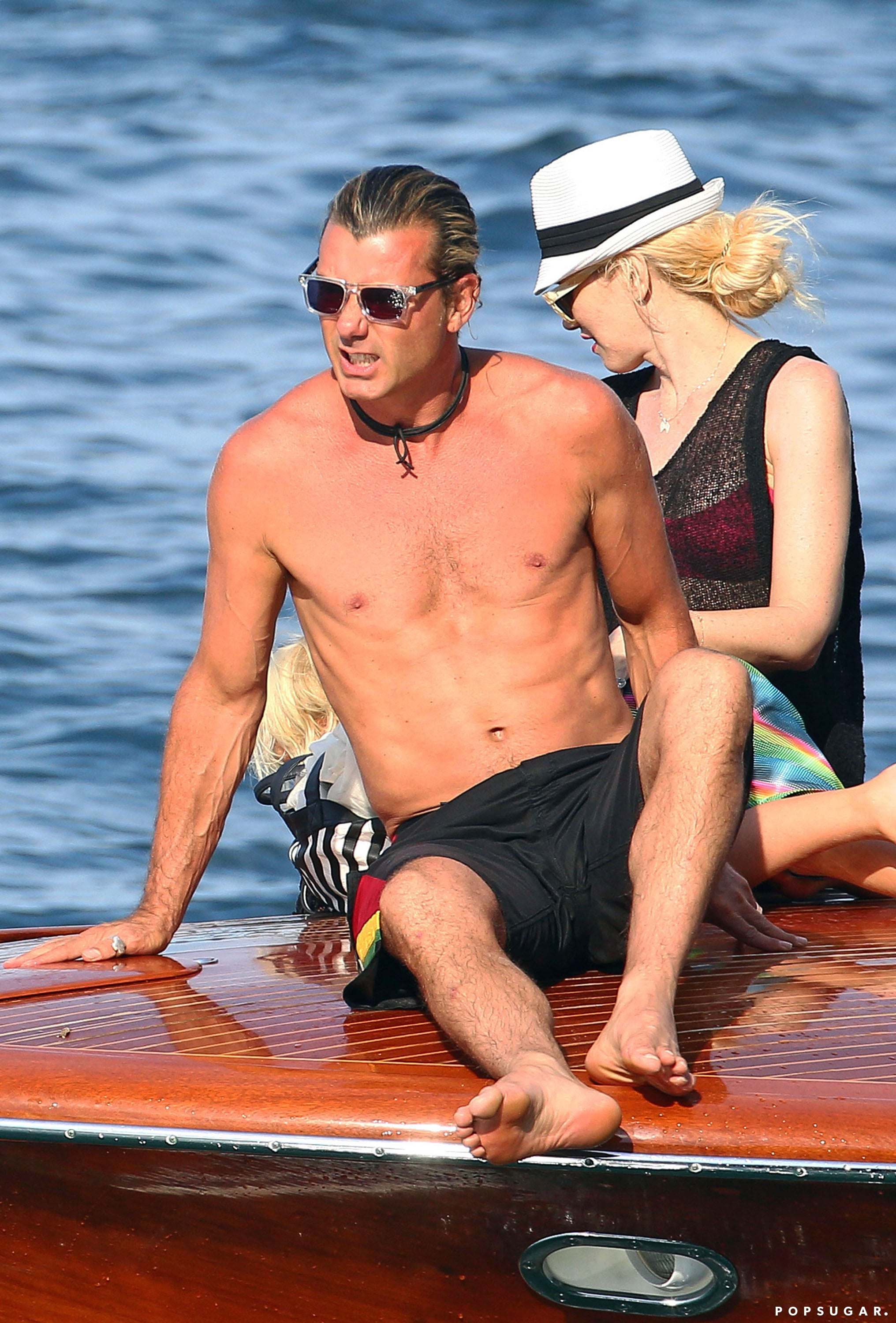 Gavin Rossdale worked on his tan during an August trip to the south of France with his family.