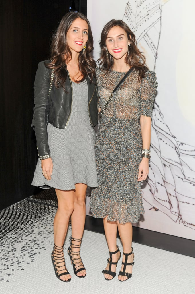 Jodie Snyder and Danielle Snyder at the opening of the Madison Avenue J. Mendel boutique.