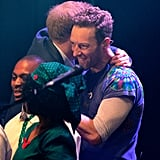Harry joined Coldplay's Chris Martin on stage during the Sentebale Concert at Kensington Palace in 2016.