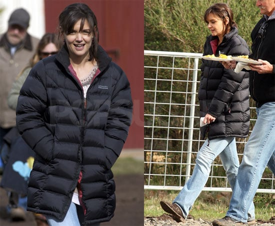 Photos of Katie Holmes on Set in Australia