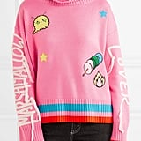 Mira Mikati Embroidered Appliquéd Turtleneck Sweater