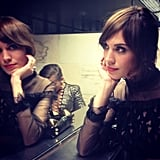 Alexa Chung shared a mirrored selfie. Source: Instagram user chungalexa