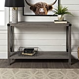 WE Furniture Barnwood Console Table