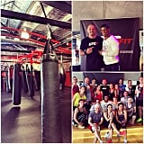 Steph tried out the new UFC Fit gym in Alexandria, alongside creator Mike Dolce and UFC champ Hector Lombard.
