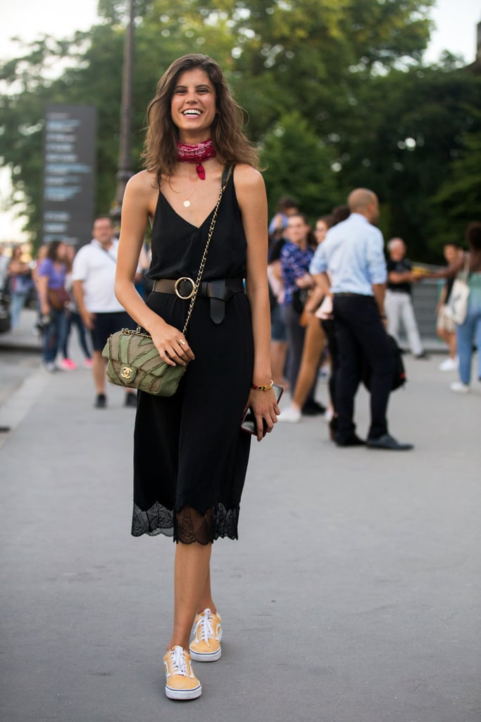 With a Belted LBD and Bandana