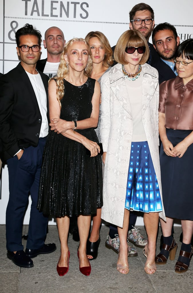 Anna Wintour and Franca Sozzani made an appearance at the Vogue Talents event during MFW.