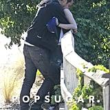 Rupert Sanders embraced Kristen Stewart.