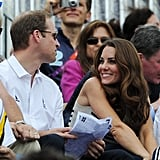Kate gave Prince William a sweet look during Zara Phillips's competition.