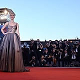 Jennifer Lawrence Dior Gown at Venice Film Festival