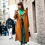 Green Wide-leg Trousers