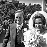 Camilla and Captain Andrew Parker Bowles Wed at the Guards Chapel