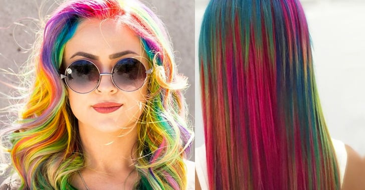 Sand Art Rainbow Hair Color Popsugar Beauty