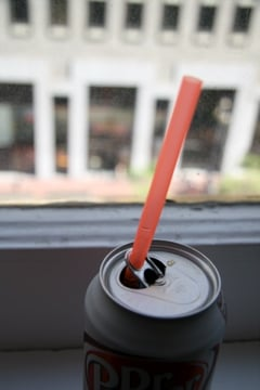 Ridiculously Simple Tip: Straws & Soda Cans