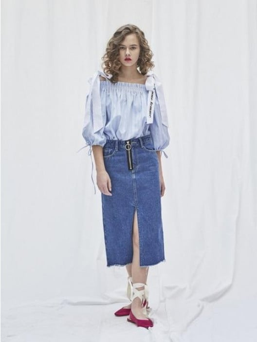 Melania Trump Denim Skirt   POPSUGAR Fashion bc169b2fb61a
