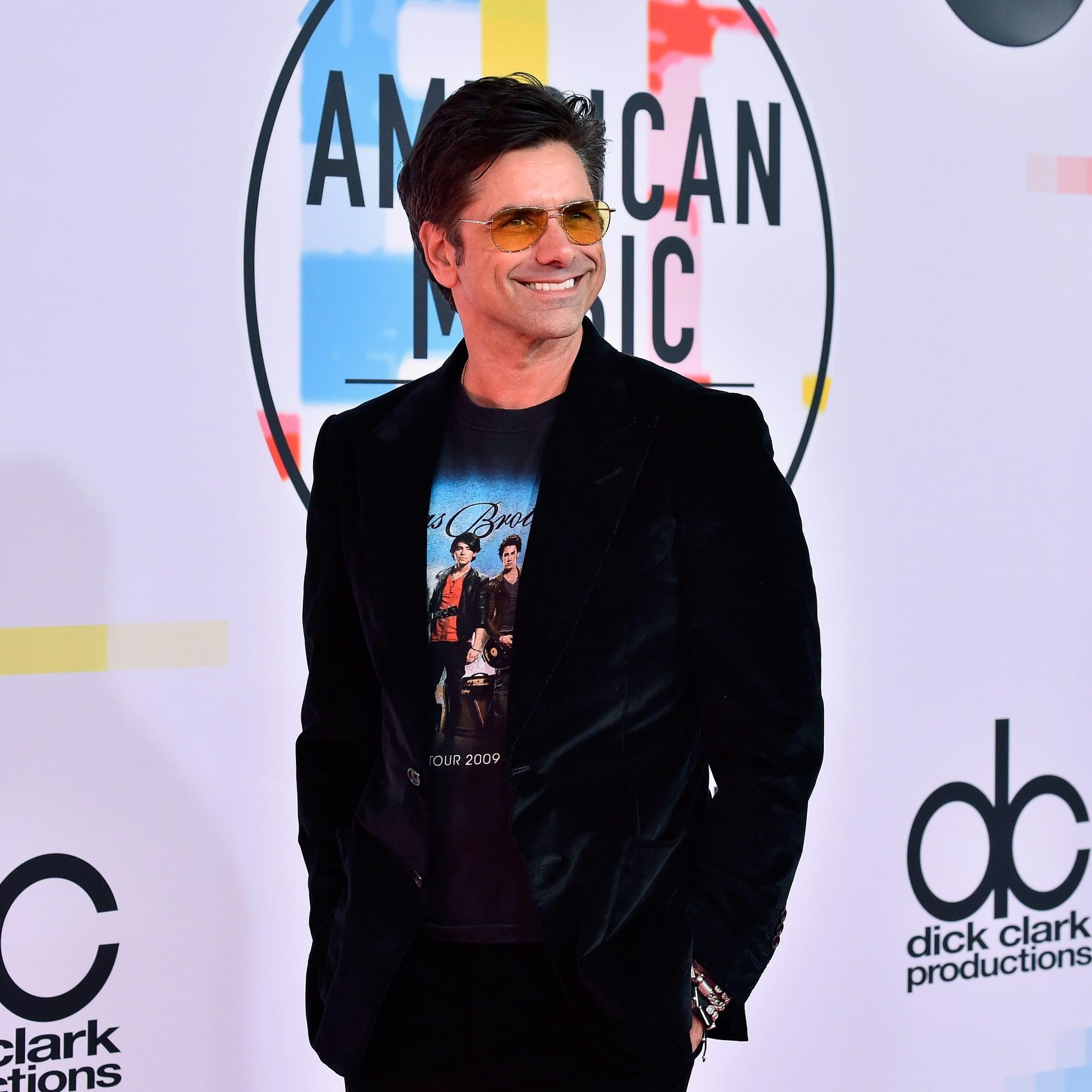 8ff92e74 John Stamos Wearing Jonas Brothers T-Shirt at 2018 AMAs | POPSUGAR Celebrity