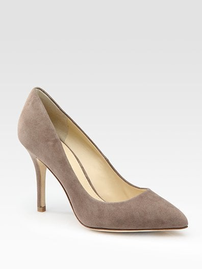 Kolette Taupe Suede Point-Toe Pumps ($300)