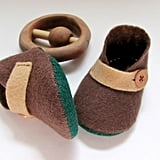 Merino Wool Baby Booties
