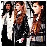 Tanya Taylor's lineup included retro-inspired silhouettes and sleek leather pieces.