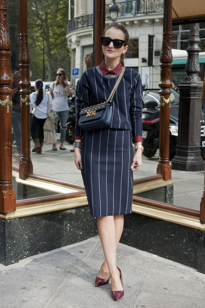 These pinstripes were meant for Paris, not Wall Street.