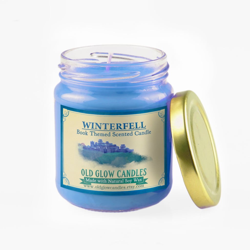 Winterfell candle ($15) with chopped pinewood, cedarwood, roaring log fire, and Westeros mist notes