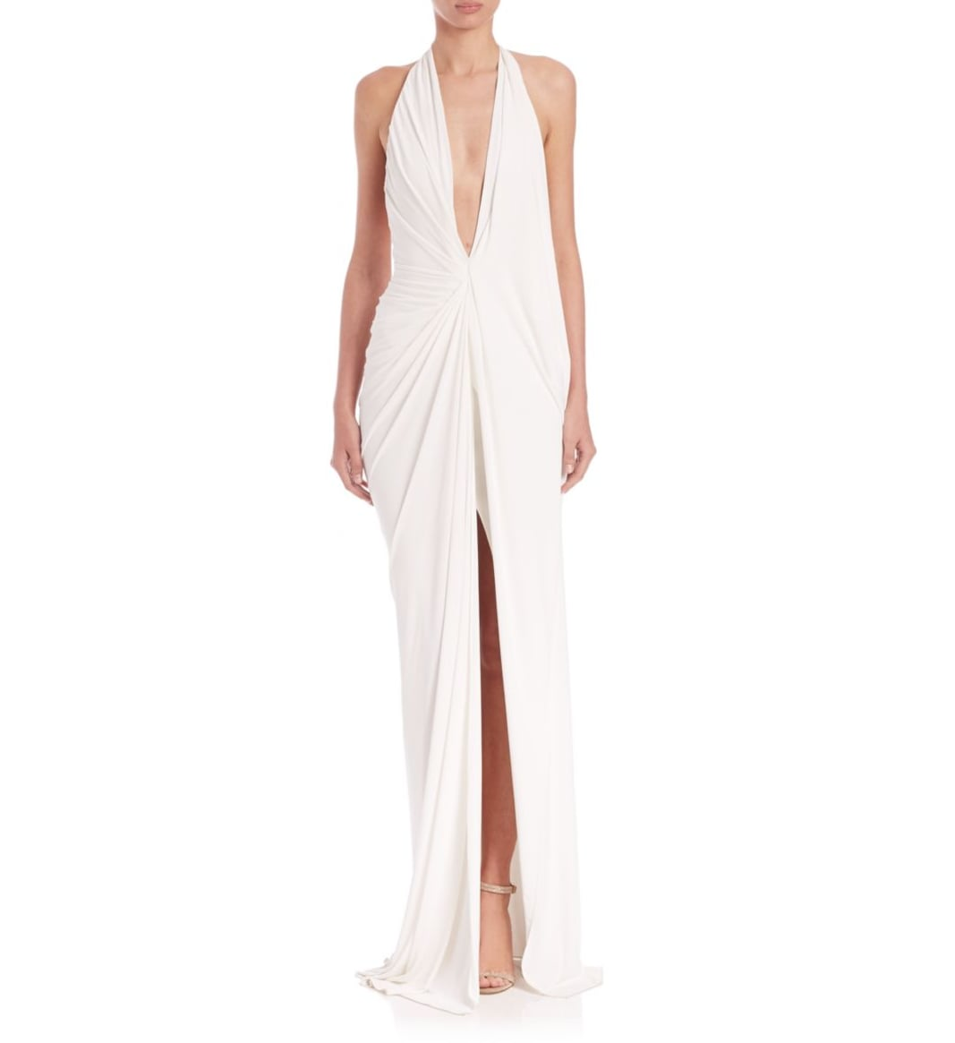 Donna karan jersey halter gown 3 495 20 of the best for Donna karan wedding dresses
