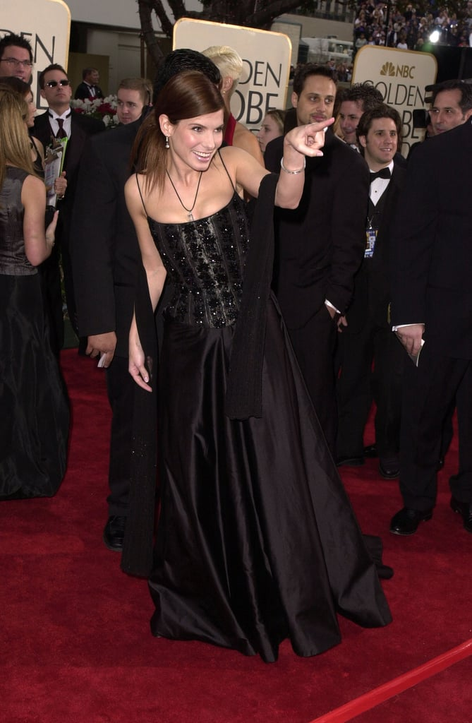 Got Red Nails For Prom Jems And Sparkles Were Added: Sandra Bullock Got Playful On The Red Carpet In 2001
