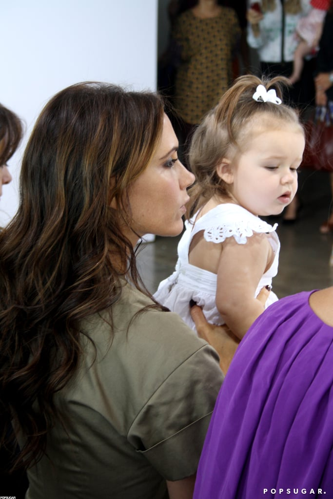 Harper Beckham watched one of Victoria's NY Fashion Week shows from the front row in September.
