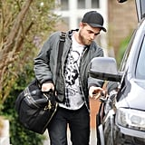Robert Pattinson packed his luggage then left home after Christmas in London.