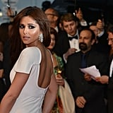 Cheryl's trim physique was flattered by the style of her Stephane Rolland dress.