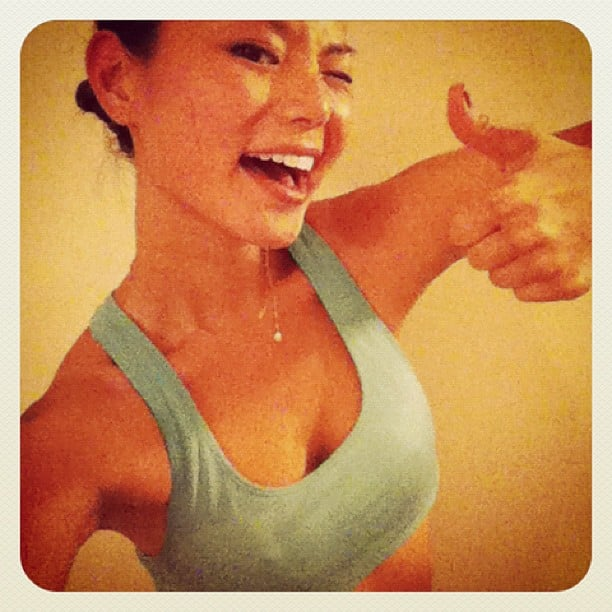 Jamie Chung gave a big thumbs-up. Source: Instagram user jjchung415