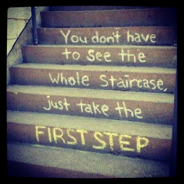 40 Amazing Staircases Details That Will Inspire You: Chalkboard Weight-Loss Quotes