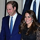 Kate Stood Out Next to William, Despite His Bright Suit
