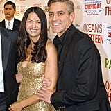 George Clooney stopped for a photo with pal Matt Damon's wife, Luciana, at the June 2007 opening of the CineVegas Film Festival.