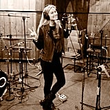 Bar Refaeli worked on a new project in a recording studio. Source: Instagram user barrefaeli