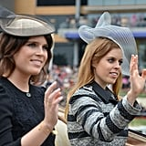 Princess Eugenie and Princess Beatrice on Day 1 of Royal Ascot