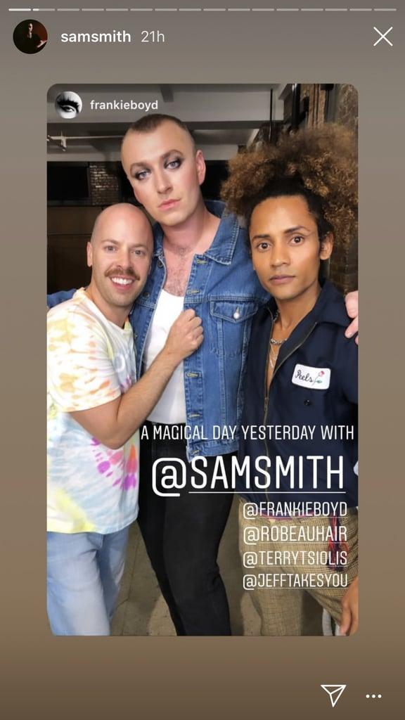 Sam Smith's Smoky Eye Makeup Look