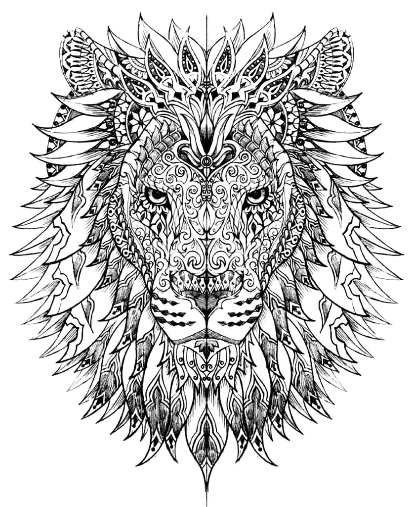 Free Coloring Pages For Adults Popsugar Smart Living Coloring Pages For Adults